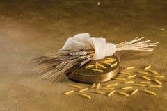 Sacan, el trigo y el penne Foto de archivo libre de regalías