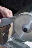 Sacapuntas de cuchillo Imágenes de archivo libres de regalías