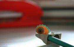 Sacapuntas de lápiz Fotos de archivo