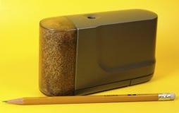 Sacapuntas de lápiz eléctricos imagen de archivo libre de regalías