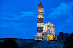 Saccargia -撒丁岛 图库摄影