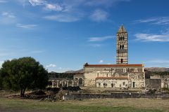 Saccargia - basílica de la trinidad santa Imagen de archivo