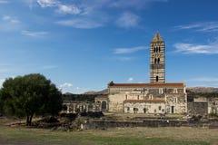 Saccargia - Holy Trinity Basilica. In Sardenia, Italy stock image