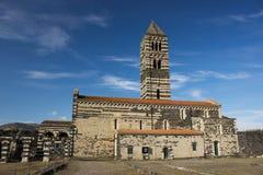 Saccargia - Holy Trinity Basilica. In Sardenia, Italy stock photography