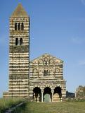 Saccargia Kirchefrontseite Stockbild