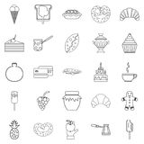 Saccharose icons set, outline style. Saccharose icons set. Outline set of 25 saccharose vector icons for web isolated on white background Stock Image