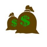Sacchetti dei soldi Immagine Stock
