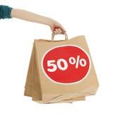 Sacchetti della spesa dalla vendita Fotografie Stock Libere da Diritti