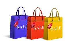 Sacchetti della spesa, vendita Immagini Stock