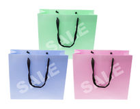 Sacchetti di acquisto Fotografia Stock