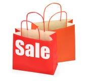 Sacchetti di acquisto su bianco Immagine Stock Libera da Diritti
