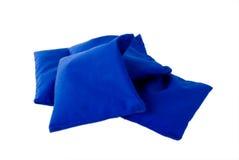 Sacchetti di sabbia blu Fotografie Stock Libere da Diritti