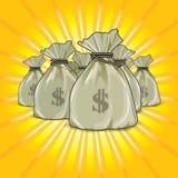 Sacchetti di soldi royalty illustrazione gratis