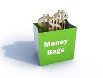 Sacchetti di soldi con la riflessione Immagini Stock Libere da Diritti