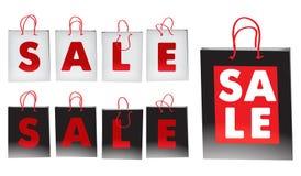 Sacchetti di vendita Fotografia Stock Libera da Diritti