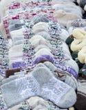 Sacchetti lavorati a maglia Fotografie Stock