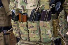 Sacchetti per il primo piano delle munizioni Immagini Stock Libere da Diritti