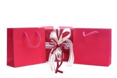 Sacchetti rossi del regalo Fotografia Stock Libera da Diritti