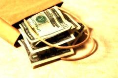 Sacchetto 3 dei soldi Fotografie Stock Libere da Diritti