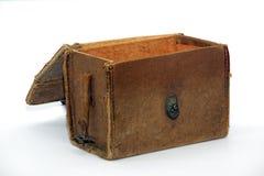 Sacchetto antico aperto Fotografia Stock Libera da Diritti
