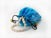 Sacchetto blu del regalo Fotografia Stock