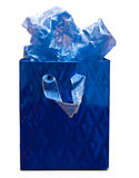 Sacchetto blu del regalo Immagine Stock Libera da Diritti