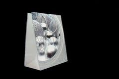 Sacchetto d'argento del regalo Fotografia Stock Libera da Diritti