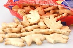 Sacchetto dei biscotti animali Fotografia Stock