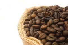 Sacchetto dei chicchi di caffè Fotografie Stock Libere da Diritti