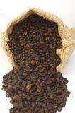 Sacchetto dei chicchi di caffè Immagini Stock Libere da Diritti