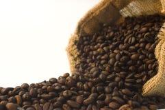 Sacchetto dei chicchi di caffè Fotografie Stock