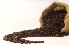 Sacchetto dei chicchi di caffè Fotografia Stock