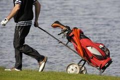 Sacchetto dei club di golf Immagini Stock Libere da Diritti