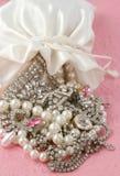 Sacchetto dei gioielli Immagini Stock
