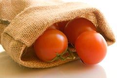 Sacchetto dei pomodori Immagini Stock