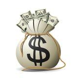 Sacchetto dei soldi Immagini Stock
