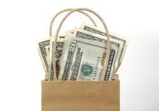 Sacchetto dei soldi Fotografie Stock Libere da Diritti
