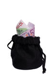 Sacchetto dei soldi Immagine Stock Libera da Diritti