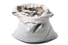 Sacchetto dei soldi della tela di canapa Immagini Stock Libere da Diritti