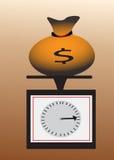 Sacchetto dei soldi sulle scale Immagine Stock Libera da Diritti