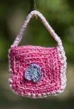 Sacchetto del Crochet fotografia stock