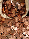 Sacchetto del penny Immagini Stock