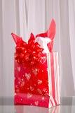 Sacchetto del regalo del biglietto di S. Valentino Immagine Stock
