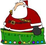 Sacchetto del regalo della Santa Fotografie Stock