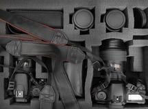 Sacchetto della macchina fotografica Immagine Stock