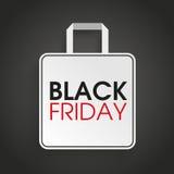 Sacchetto della spesa Black Friday Immagini Stock