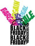Sacchetto della spesa di Black Friday Immagini Stock