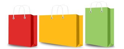 Sacchetto della spesa ed etichetta Fotografie Stock Libere da Diritti