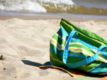 Sacchetto della spiaggia immagine stock