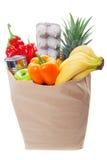 Sacchetto delle frutta e delle verdure sane Immagine Stock